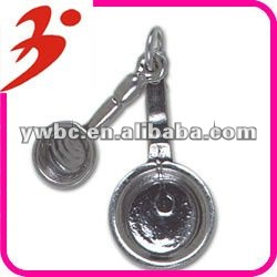 2012 yiwu made alloy plating antisilver frying pan charms jewelry pendant(185233)