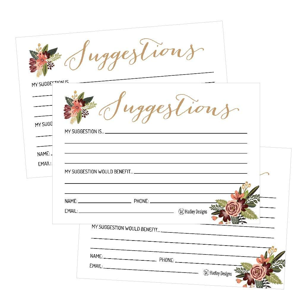 Cheap where to get w2 forms for employees find where to get w2 get quotations 25 4x6 floral feedback comment suggestion card forms for customer complaints small business employees izmirmasajfo