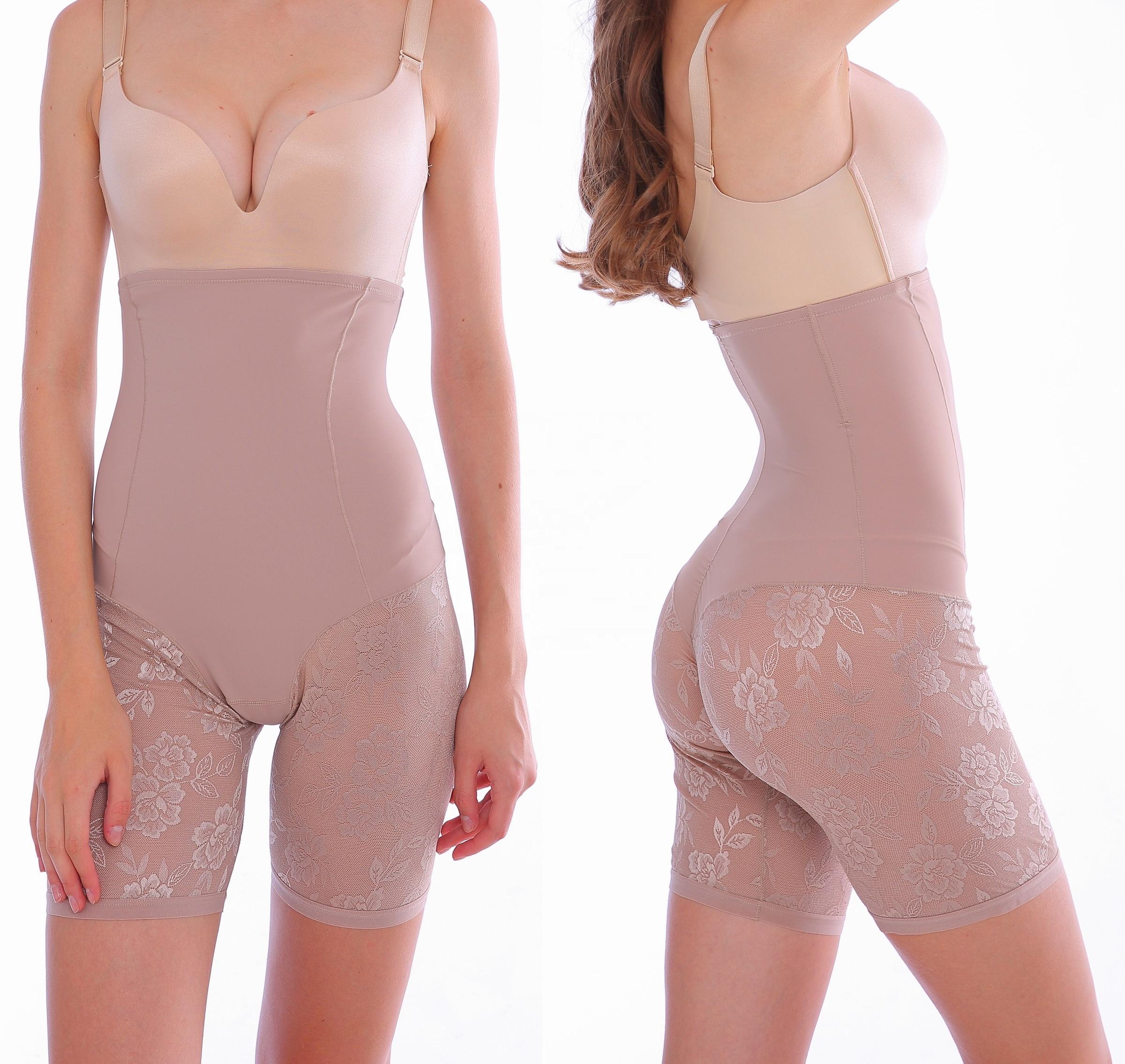 New lace women shapewear panties high waist tummy control short lace waist slim shaper panties фото