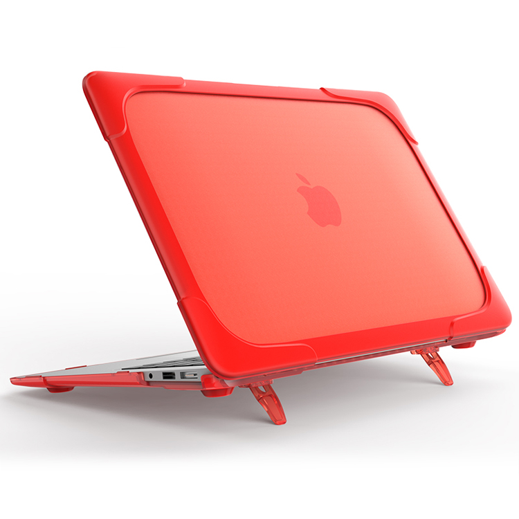 Hard cover case accessorieswith kickstand shockproof conners case voor Macbook air 13.3