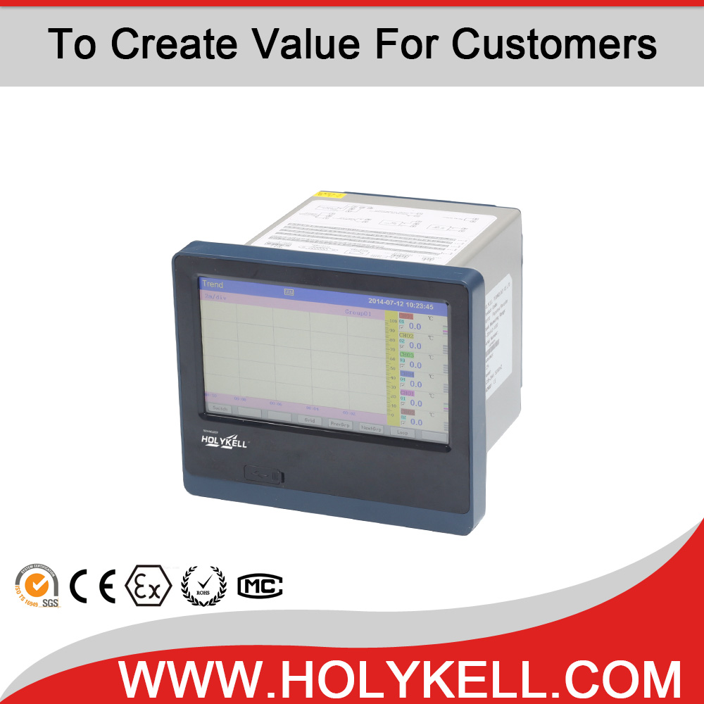 China Holykell RS485 Data Logger RS232 12Channel Input Paperless Recorder
