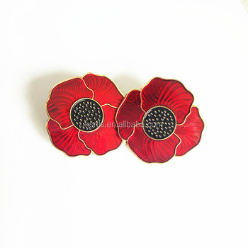 Red And Black Poppy Flower Remembrance Memorial Day Enamel Lapel Pin - Buy  Poppy Lapel Pin,Red Poppy Lapel Pins,Flower Poppy Lapel Pin Product on