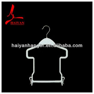 HY4014 Colourful cute design of plastic children's wear suit hangers