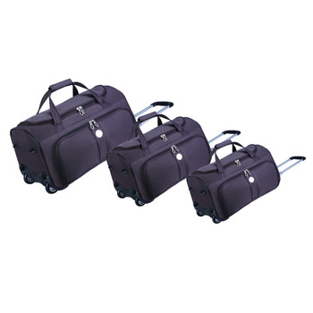 Durable Lightweight Trolley Travel Bag With Wheels Universal Rolling Wheeled Carry On Weekender Overnight Dance Duffel Set