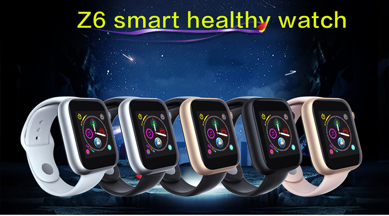 2019 Fitness Intelligent Sim Card Phone Watch Metal Frame Z6 Smart Watch With sport tracking