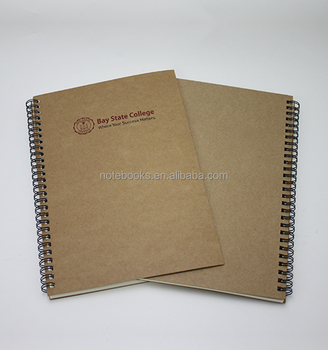 Free Sample Eco Friendly Paper Cover Blank Kraft Notebooks