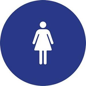 ADA Compliant Womens Restroom Door Signs with Female Symbol - 12x12