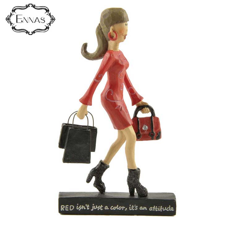 Wholesale handmade gift Fashion Customizable girl Portrait resin statue