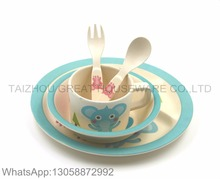 Great Brand Colorful Melamine Baby Dinnerware Sets Holiday Melamine Plate Bowl Cup Spoon And Fork Sets