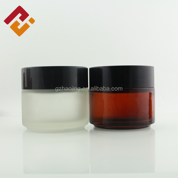 cosmetic and body cream bottle glass jar20g 30g 50g 100g glass cosmetic jar cosmetic bottles jars glass