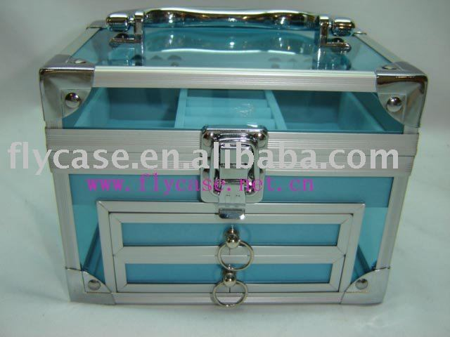 2015 new design Aluminum acryl case with drawer