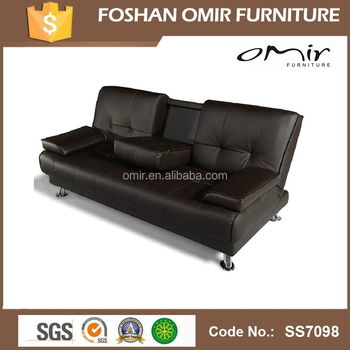 Uk Faux Leather Sofa Bed With Cup Holder