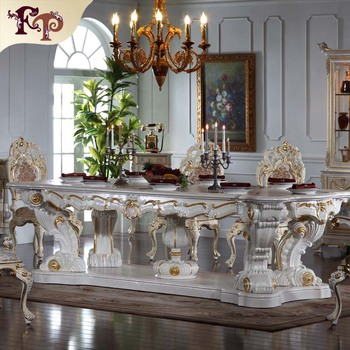 European Antique Furniture High End Wooden Executive Dinging Room Luxury Table Classical