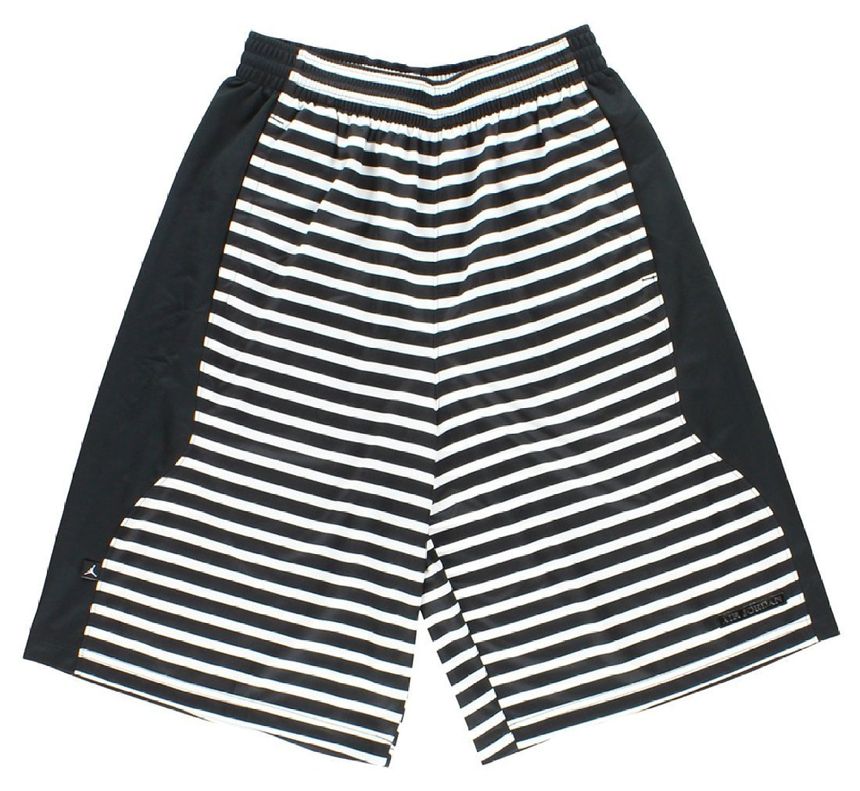 1f5355ba5437 Get Quotations · Jordan Mens AJX Retro 10 Flipped Basketball Shorts  Black White