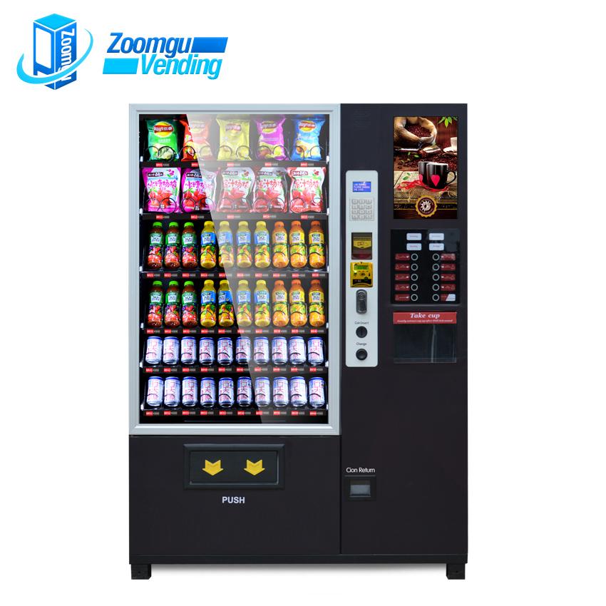 ZG Oem/odm Preço Comercial Ao Ar Livre Wi-fi Programável Máquina de Venda Automática de Café Quente