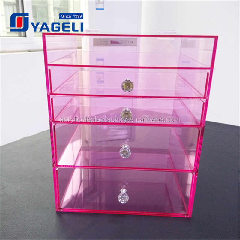 Yageli Your trust worthy supplier offer wholesale transparent acrylic makeup organizer with drawers