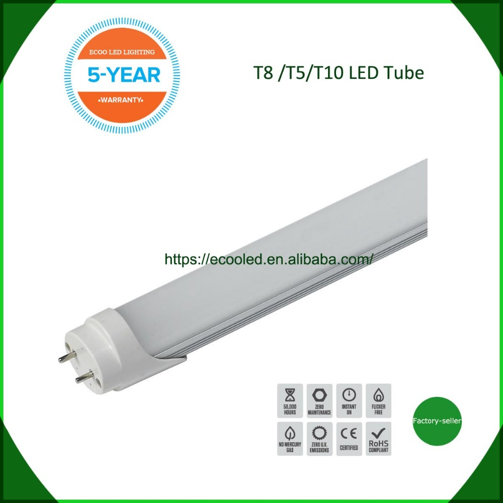 85-265v LED TUBE T8 lamp 8ft 2400mm 36W Integrated Tube Light SMD2835 milky clear cover