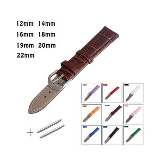New product waterproof brown leather watchband hot sale
