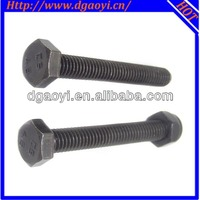 standard metal hot sales black zinc plated hex bolt and nut