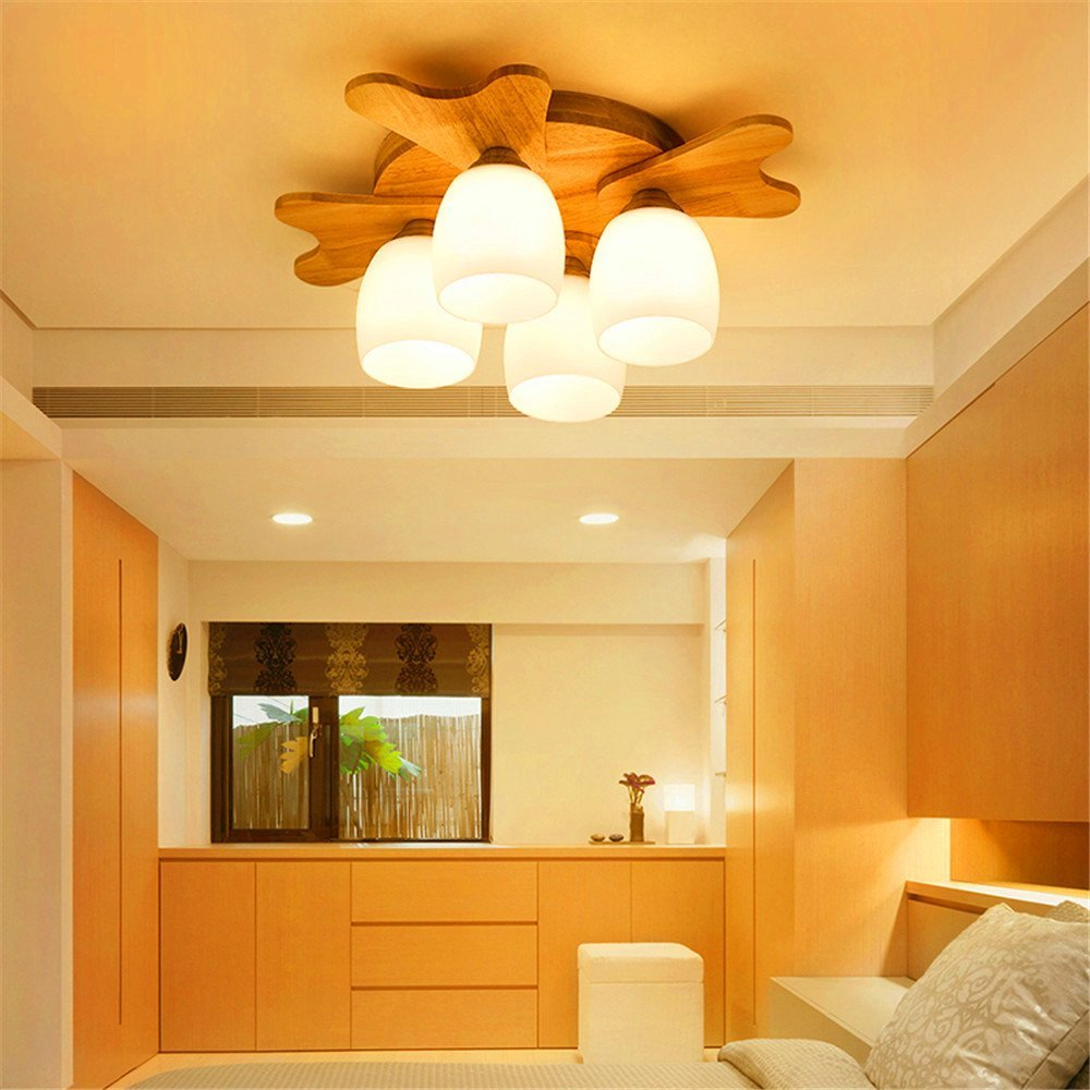 Get quotations · modern led pendant flush mount ceiling fixtures light light childrens room lights creative antlers lighting japanese