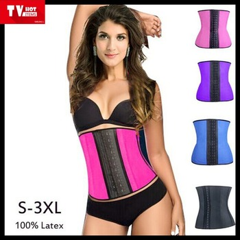 export to Ghana Namibia, rubber body shaping slimming corset latex waist training  corsets