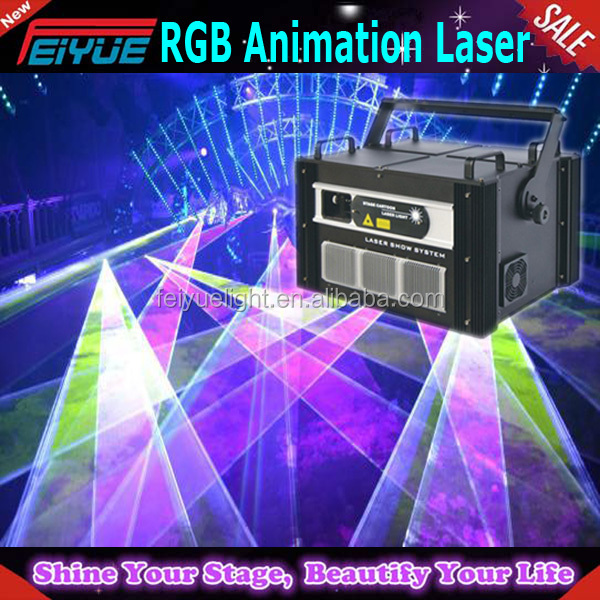 dj laser light euqipment ILDA laser DMX control 3d animation laser light
