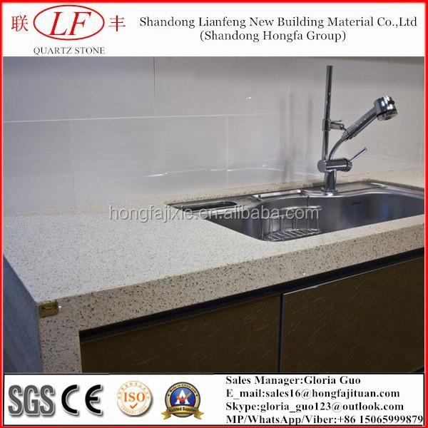 artificial quartz stone soild surface kitchen countertop