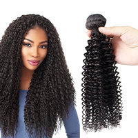 Morein hair super quality wet and wavy 100% full cuticle aligned virgin kinky curly human hair extensions in dubai