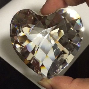 56mm crystal heart shape diamond paperweight wedding gifts