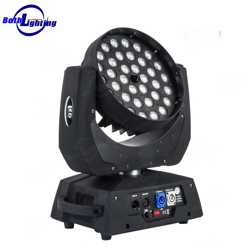 China dj lighting 36X10w zoom led moving head parts RGBW wash lights for sale