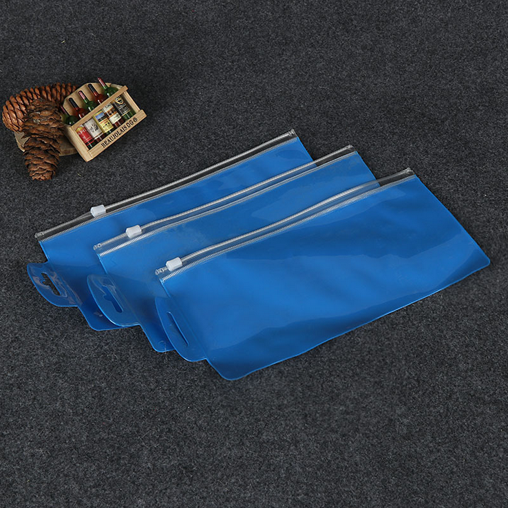Hot Selling One Size Clear PVC Ziplock Pencil Plastic Packaging Bag