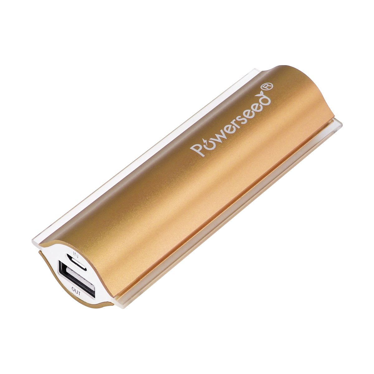 Powerseed Angel Eye PS2400 Gold Power Bank USB Portable Charger for iPhone 4, iPhone 5, iPhone 5S, iPhone 5C, iPhone 6, Android Phones, iPad, Android Tablet, Windows Tablet, Go Pro Hero Camera, PSP, Nintendo 3DS, Sony Playstation Vita and more