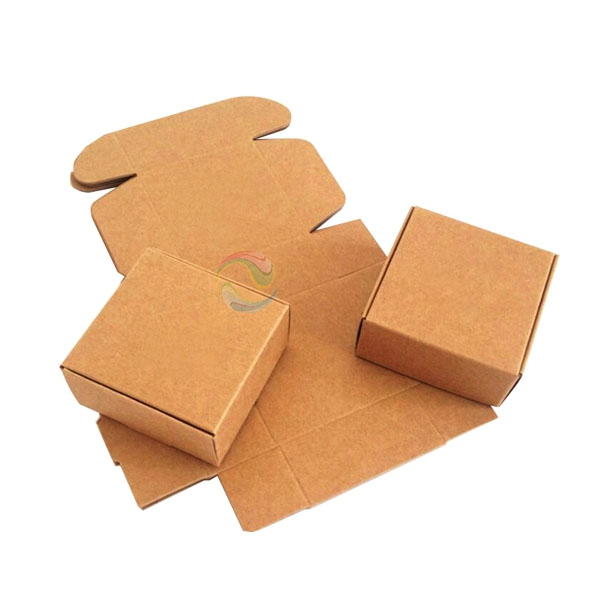 Cheap Collapsible Recycled Small Brown Kraft Paper Square Soap Box