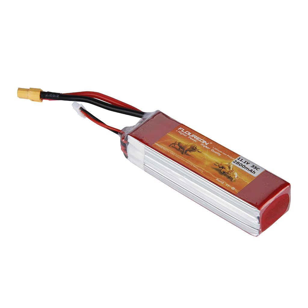 Floureon 11.1V 2800mAh 35C 3S RC Lipo Battery Pack 4.33*1.46*1.18 Inch for RC Airplane, RC Helicopter, RC Car/Truck, RC Boat, RC Hobby (XT60s Plug)
