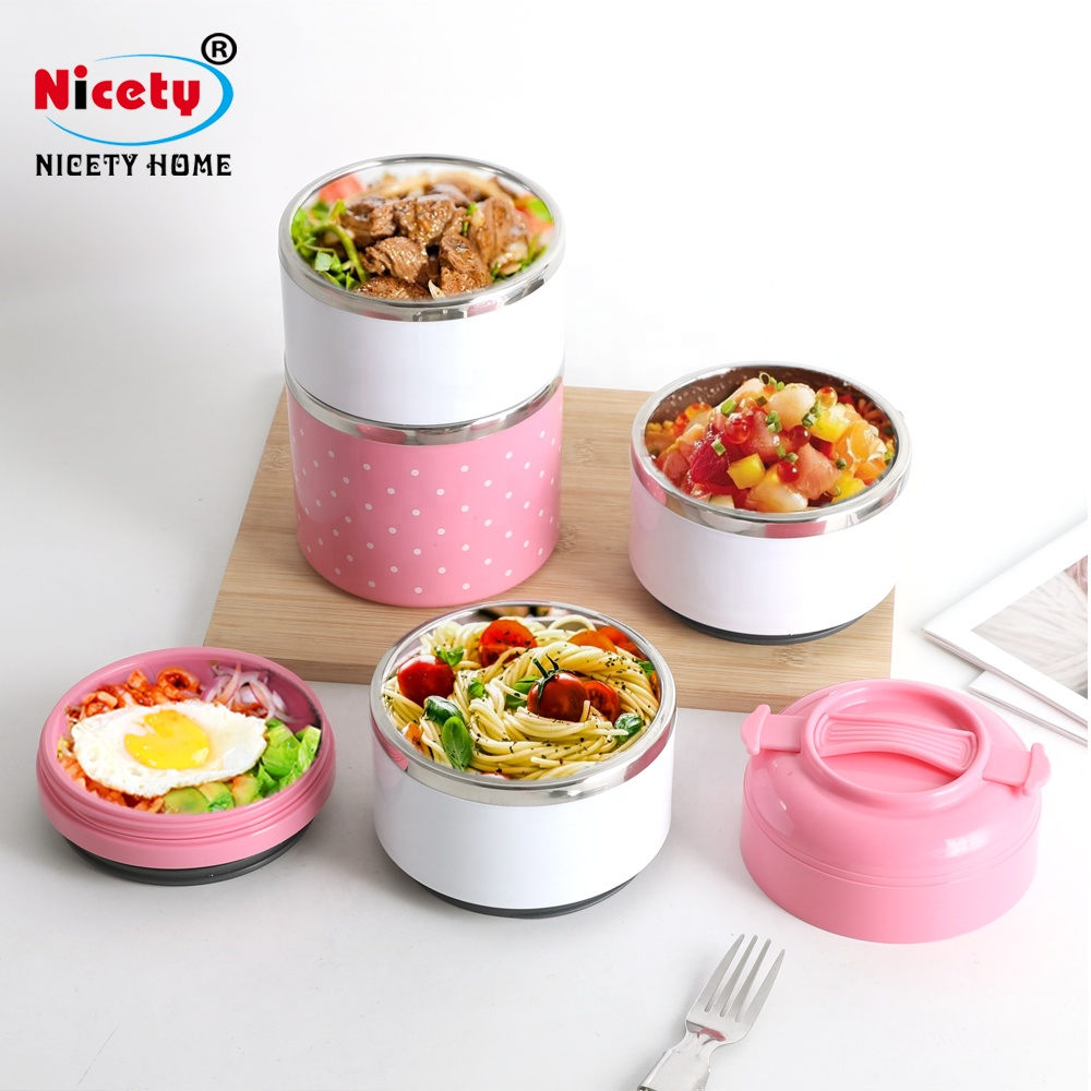 Nicety stainless steel children tiffin box tiffin food container heating lunch tiffin box keep food hot