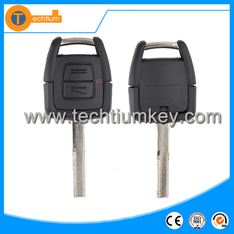 2 button blank remote key shell Hu43 blade for opel astra omega