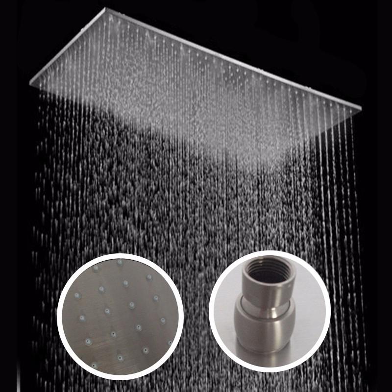 Grifos para duchas affordable mezclador termosttico de for Ducha de lluvia techo