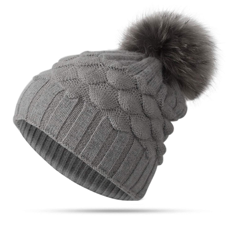 Winter Women Girl Hat Beanies Warm Knitted Pompom Hat For Children Winter Female Warm Hat Cap