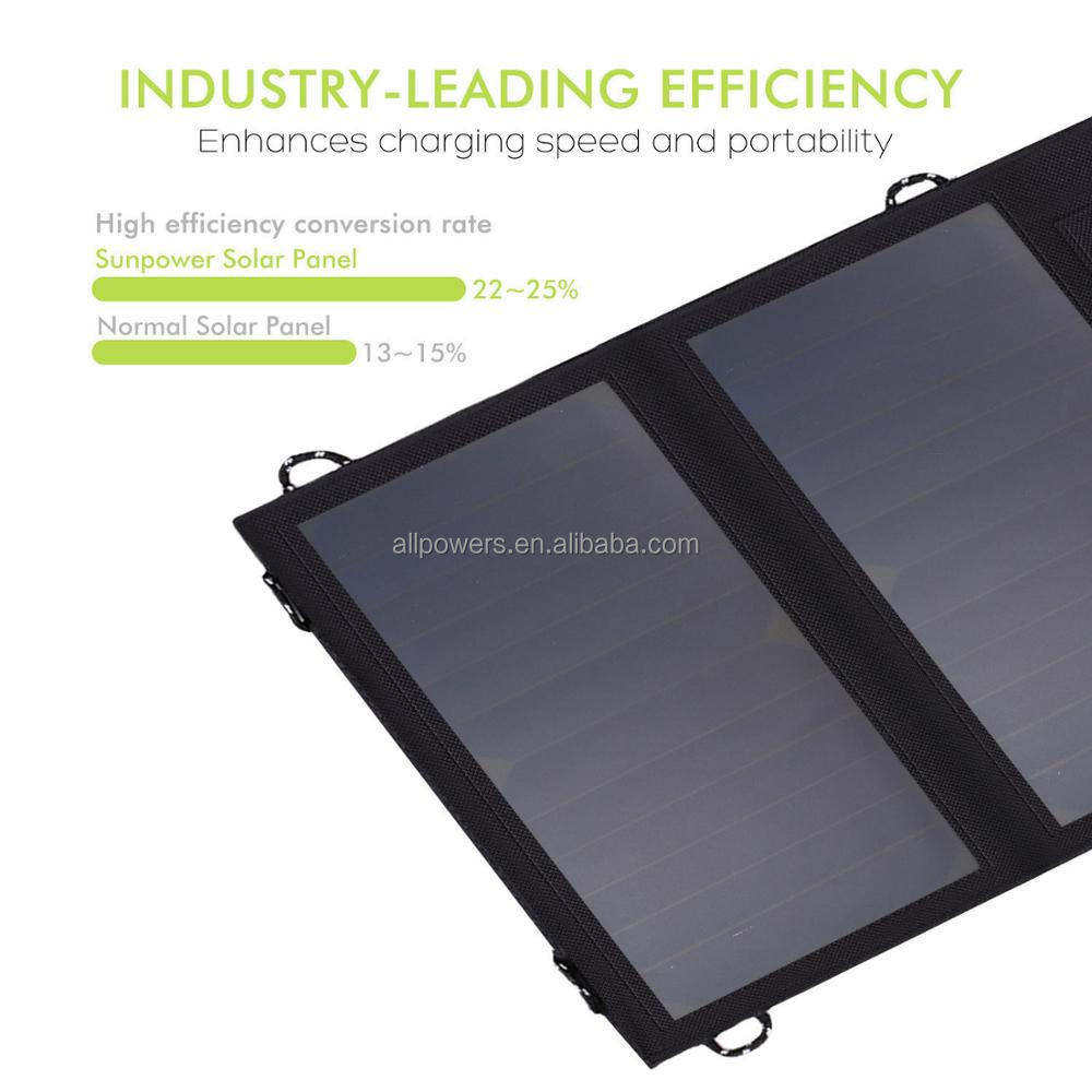 CE FCC ROHS Approved 14W 5V waterproof double usb output portable mobile solar charger panel
