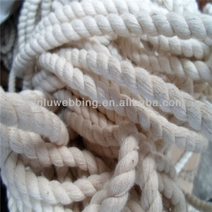 3 strand twisted white cotton rope