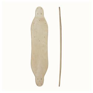Wholesale customized wooden chinese maple blank longboard skateboard deck  38'' oem product