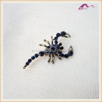 d47fc5452 Fashion Blue Crystal Scorpion Animal Brooch,Men's Brooch Pins ...