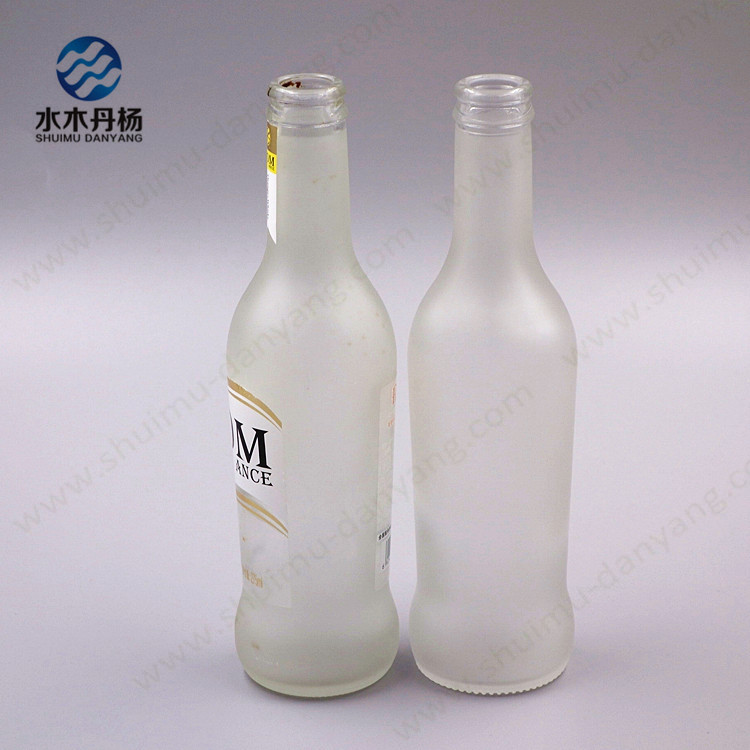 Hot sale 250ml liquor bottle frosted liquor bottle