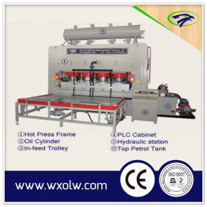 MDF/PB/Plywood Short cycle melamine laminating veneer press machine for furniture board