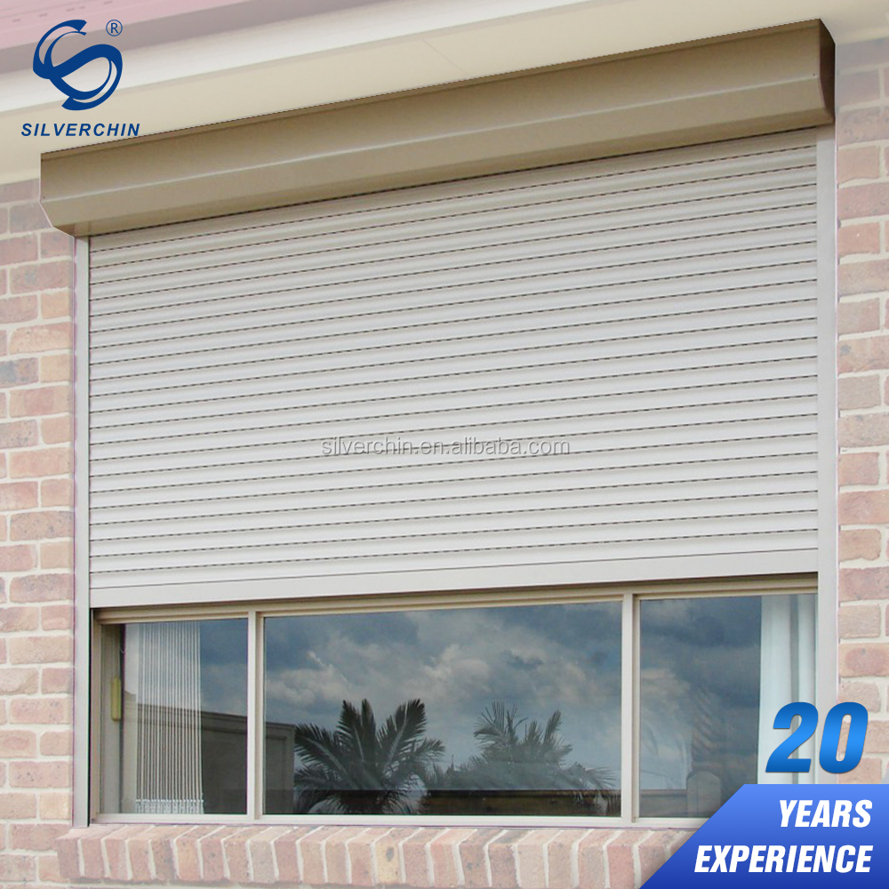 Residential Decorative Interior Sound Proof Motorized Aluminium Security Outdoor Window Shutters