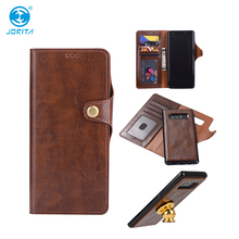 For Samsung Galaxy Note 8 Crazy Horse Leather Wallet Case Detachable 2 in 1 Magnetic Flip Cover