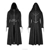 Y-780 Gothic Winter Dark Angel Velvet Woven Hooded Long Coat