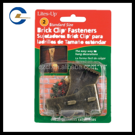 Brick hanging clips fasteners hardware for brick wall