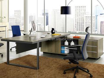 2017 European Style Office Furniture Executive Desk With Metal Leg
