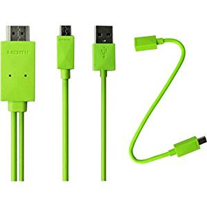 """4Xem Micro Usb To Hdmi Mhl Adapter Cable For Samsung Galaxy S2/S3/S4/Note(Green) . Usb/Hdmi For Audio/Video Device, Cellular Phone, Tv, Monitor, Tablet Pc . 6.56 Ft . 1 X Male Micro Usb, 1 X Type A Male Usb . 1 X Hdmi Male Digital Audio/Video . Green """"Product Type: Hardware Connectivity/Connector"""